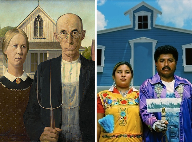 Grant Woods American Gothic Reimagined By Santiago Forero As Mexican