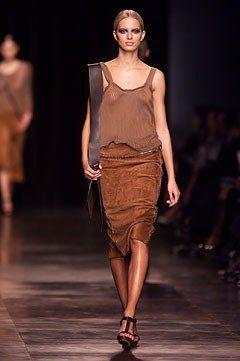 Saint Laurent Spring 2002 Ready-to-Wear Fashion Show - Karolina Kurkova