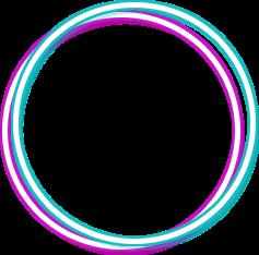 Neon Round Blue Freetoedit Circle Frame Border Geometri Circle Frames Circle Borders Neon Png