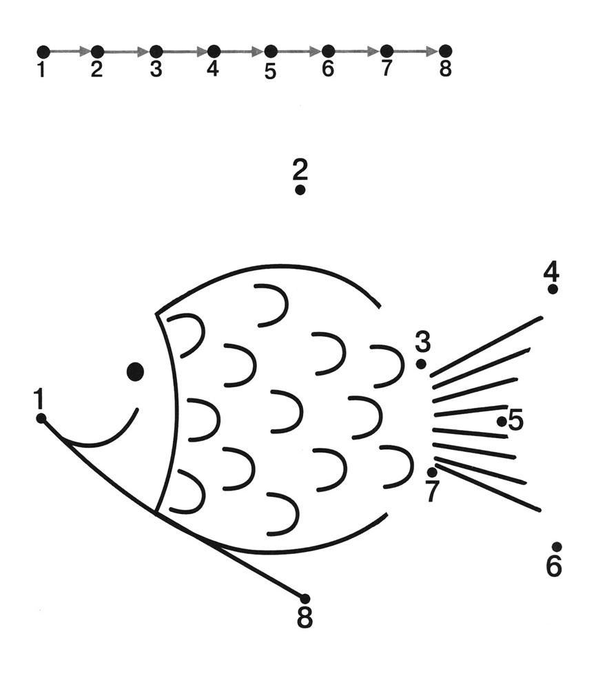 fish dot to dot worksheets – Math Dot to Dot Worksheets