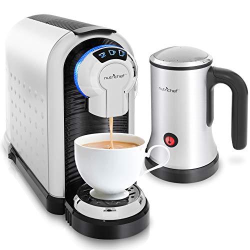 NutriChef Espresso Machine & Cappuccino Maker with Milk