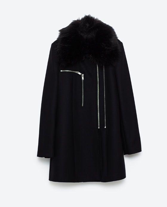 Image 8 of COAT WITH ZIPS from Zara