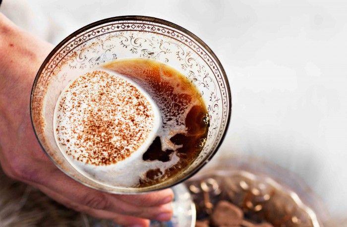 Kaffedrink med chokladtryffel
