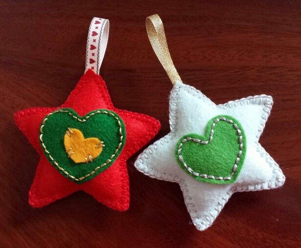 Christmas stars Felt Christmas Decorations Paño Lency