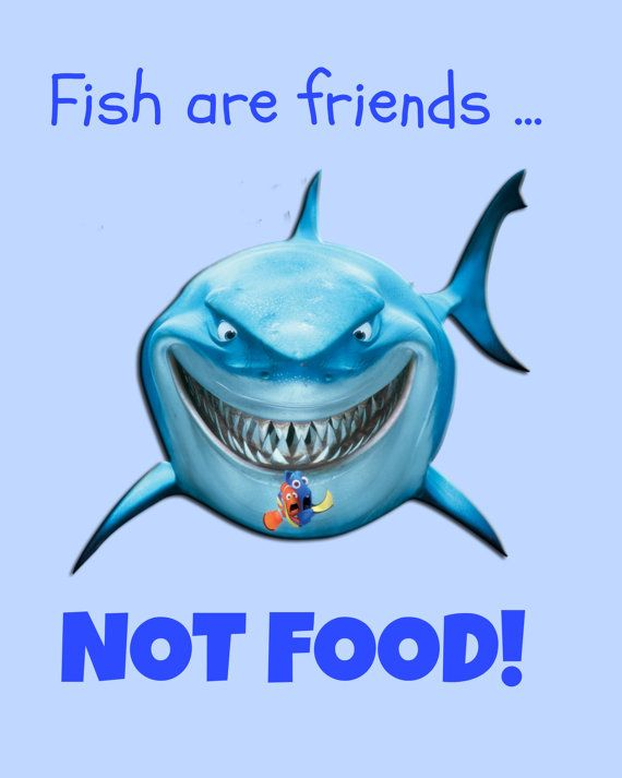 finding nemo fish are friends not food 8x10 digital