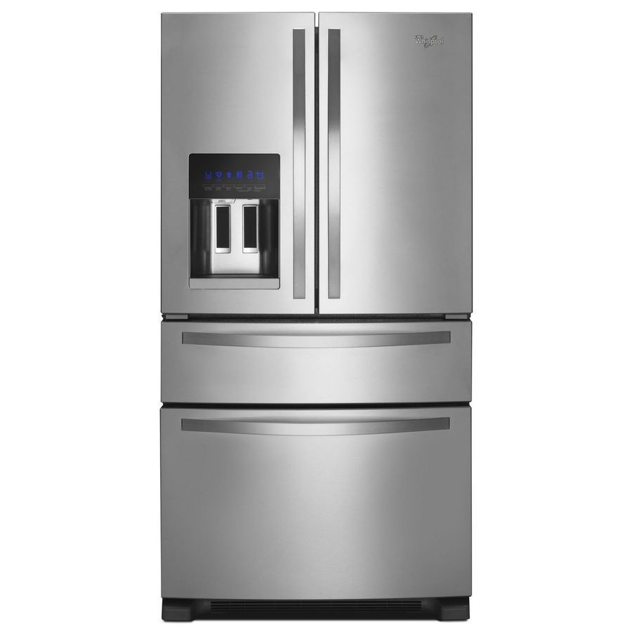 Shop Whirlpool 25 Cu Ft 4 French Door Refrigerator With Single Ice