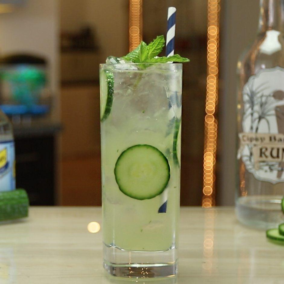 Cucumber Mojito Tipsy Bartender Recipe Refreshing Drinks Recipes Mojito Tipsy Bartender