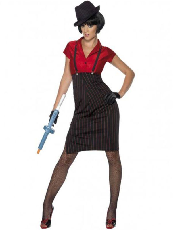 df981af97f85 CL461 Womens 1920s 20s Gangster Costume Ladies Chicago Flapper Era Fancy  Dress