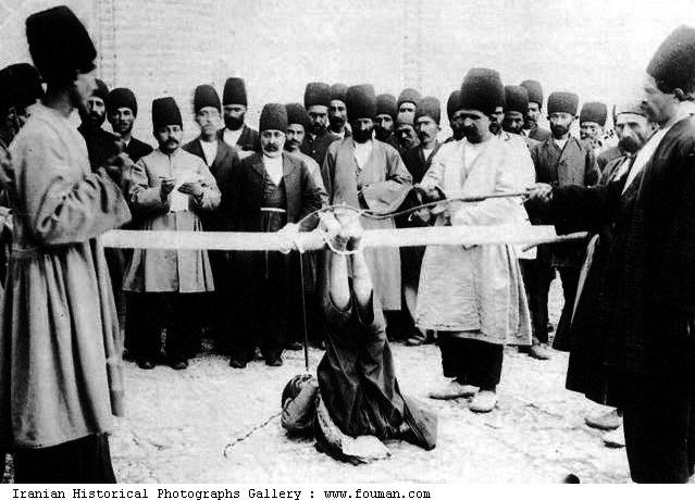 persia  public punishment  foot beating  falak was