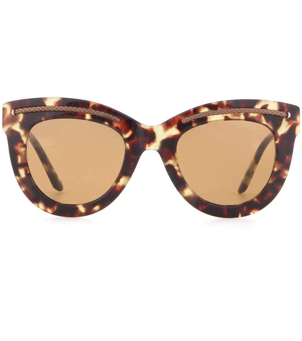12967a1f95d BOTTEGA VENETA Tortoiseshell Cat-Eye Sunglasses.  bottegaveneta  sunglasses