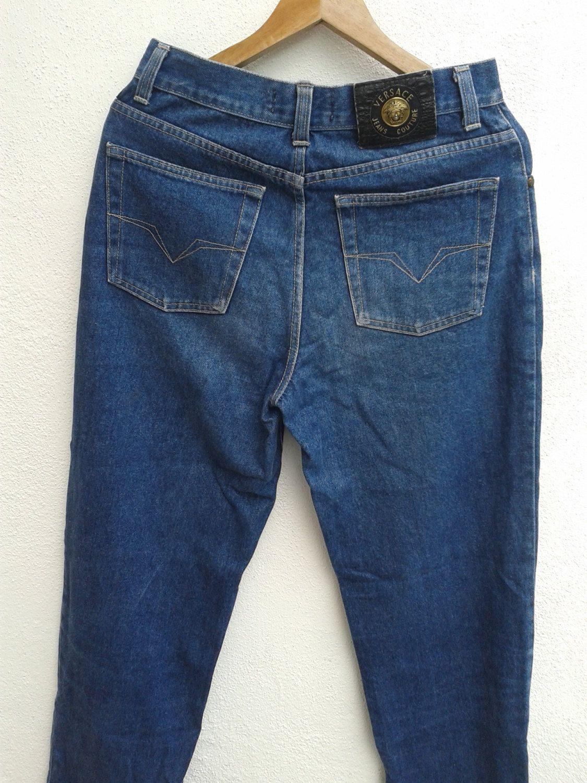 c246270e9d69 VERSACE Jeans Couture Gold Medusa Head Denim Trouser Vintage 90s Hip-Hop  Pants by BubaGumpBudu on Etsy