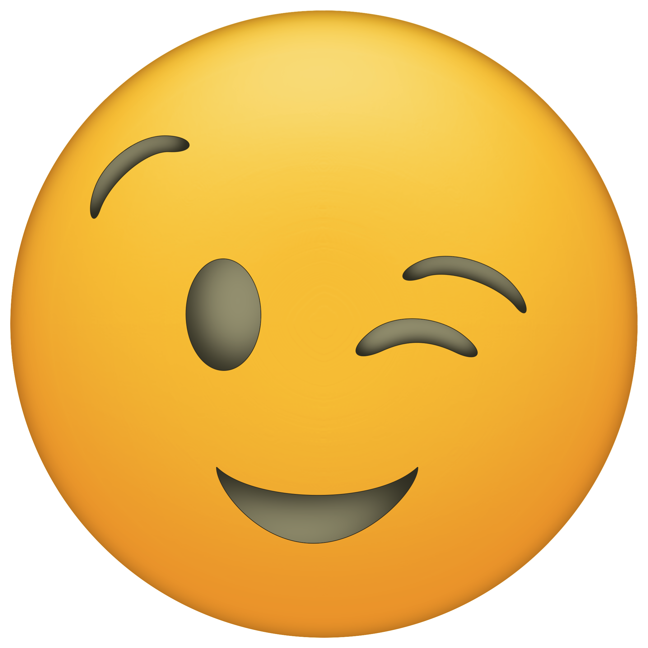 Winky Png 2 083 2 083 Pixels Manualidades De Emojis Caras Emoji Emojis