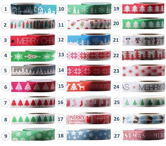 3 x Christmas Washi Tape Decorative Paper Adhesive Masking Trim 15mm x 10m on Etsy, 967,74Ft