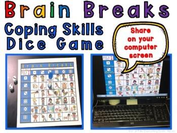 Brain Breaks Coping Skills Dice Game Coping Skills Brain Breaks Skills