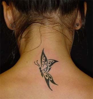 Butterfly Neck Tattoos Google Search Back Of Neck Tattoo Butterfly Neck Tattoo Butterfly Tattoo