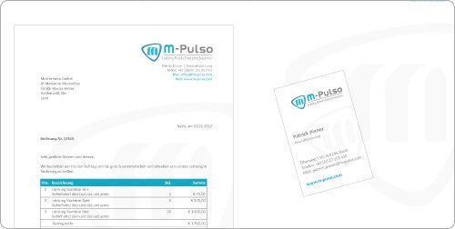 Corporate Design Manual Fur M Pulso Die Firma M Pulso Hatte Bereits Ein Logo Und Grobe Corporate Design Richtlinien Grafik Design Design Corporate Identity