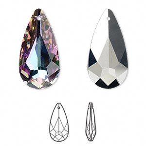 810e9cf60 Drop, Swarovski crystal, Crystal Passions®, crystal vitrail light, 24x12mm  teardrop pendant (6100). Sold individually. - Fire Mountain Gems and Beads