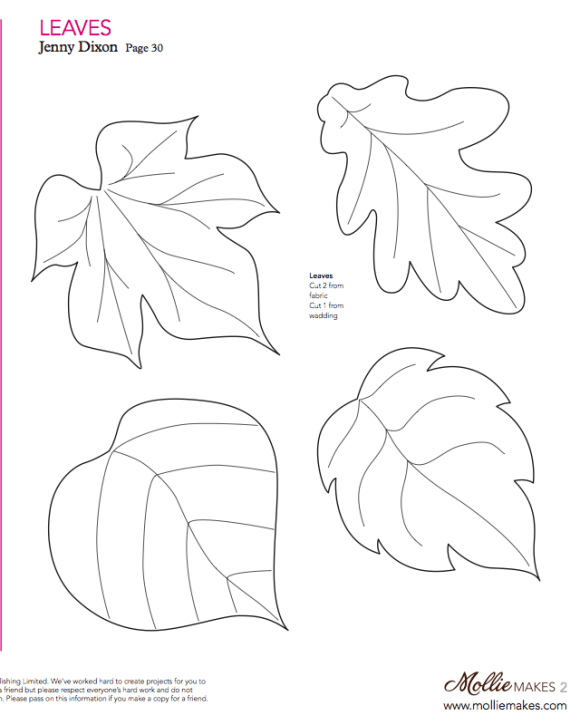 Mollie makes, Felt Leaf Template … | Pinterest