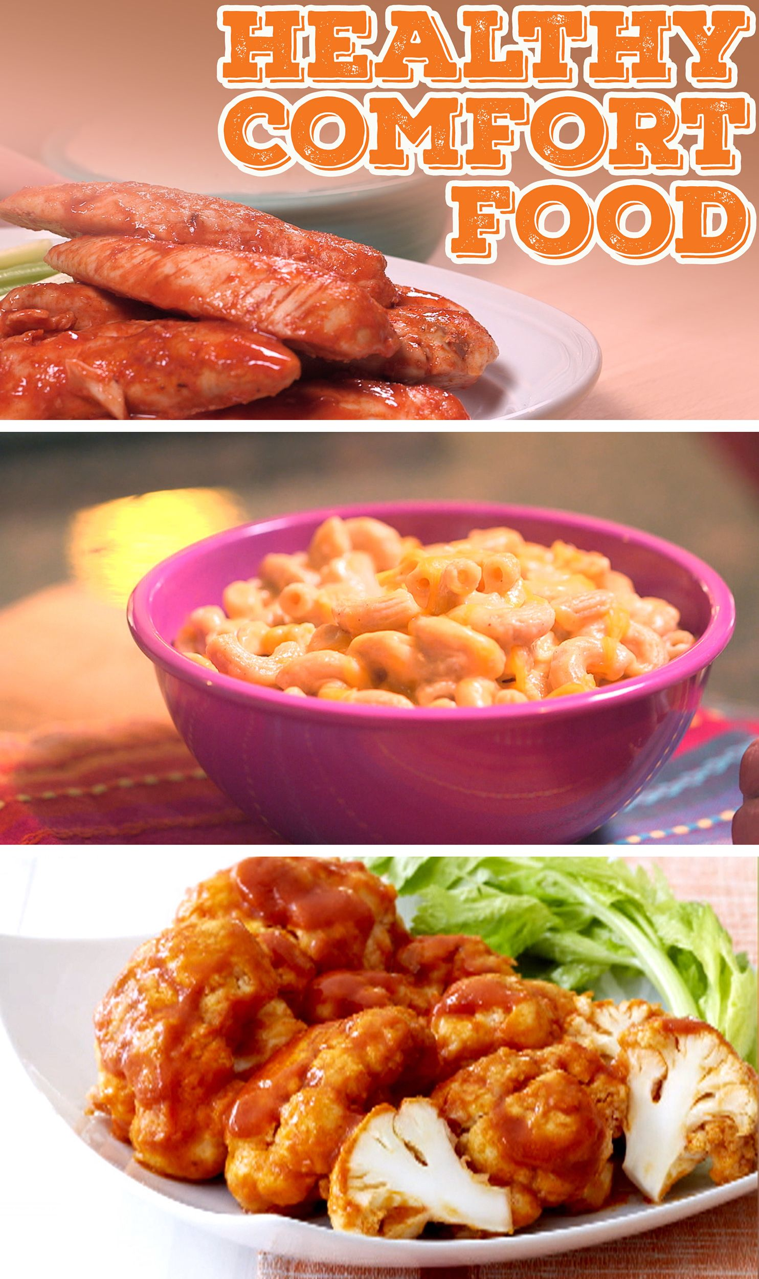 From junk food to joy food give your favorite comfort foods a feel less guilty about eating some of your favorite foods like buffalo wings and mac and cheese treat yourself to these healthy recipes forumfinder Gallery