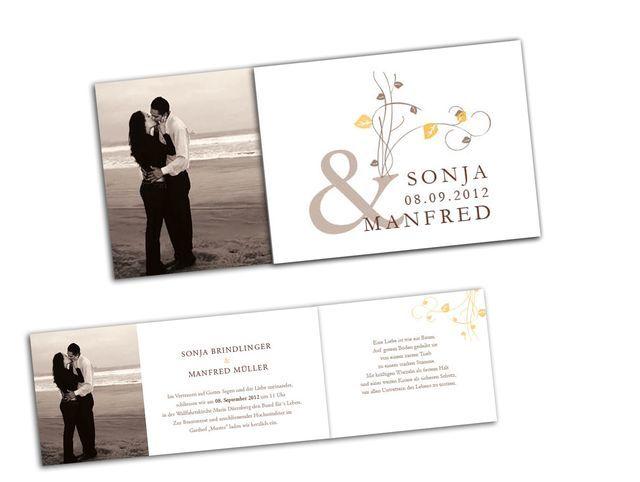 Hochzeitskarten mit Foto - Von zartem Trieb