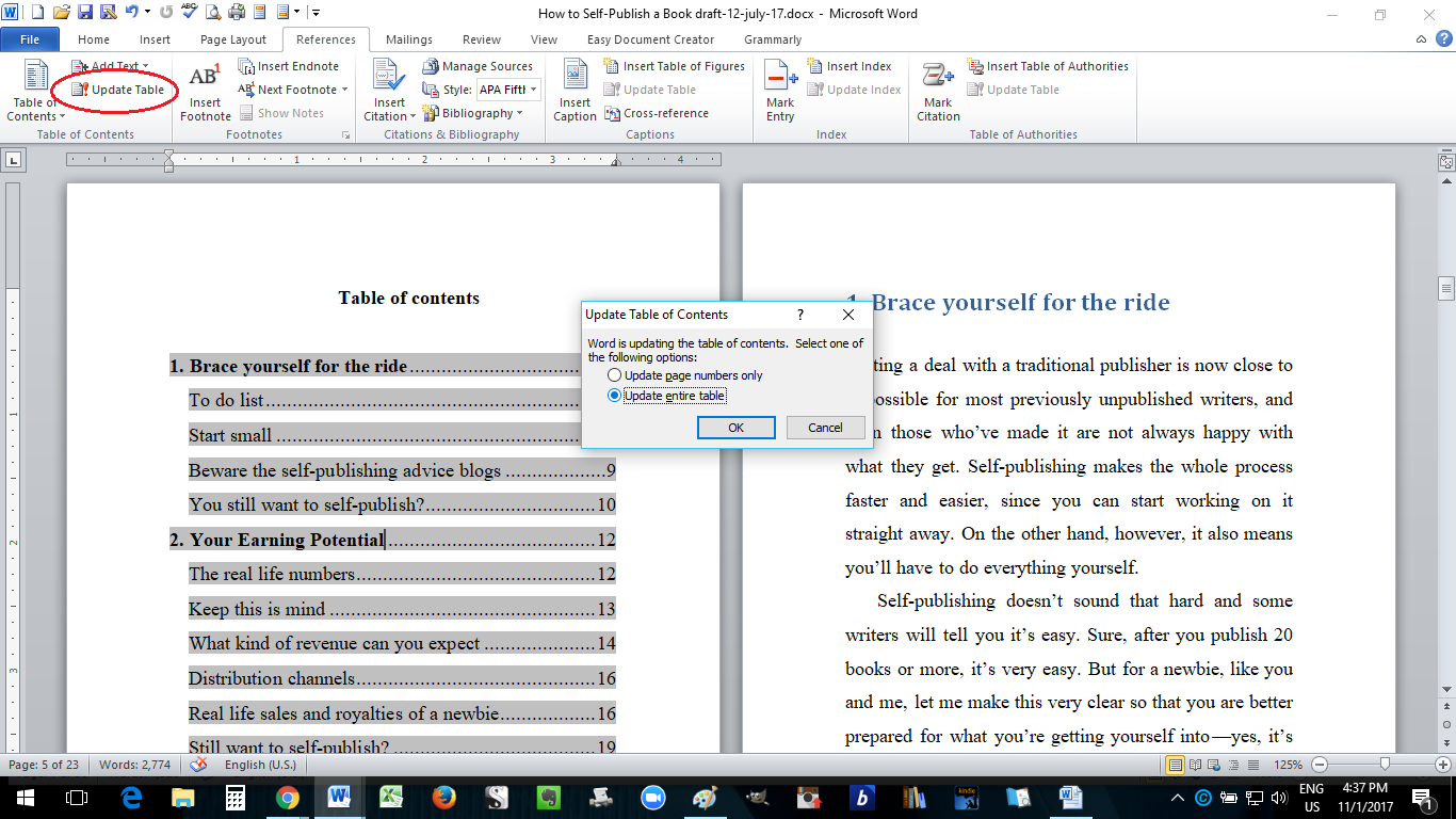Paperback Formatting In Ms Word How To Self Publish A Book Part 10 Self Publishing Books Ms Word