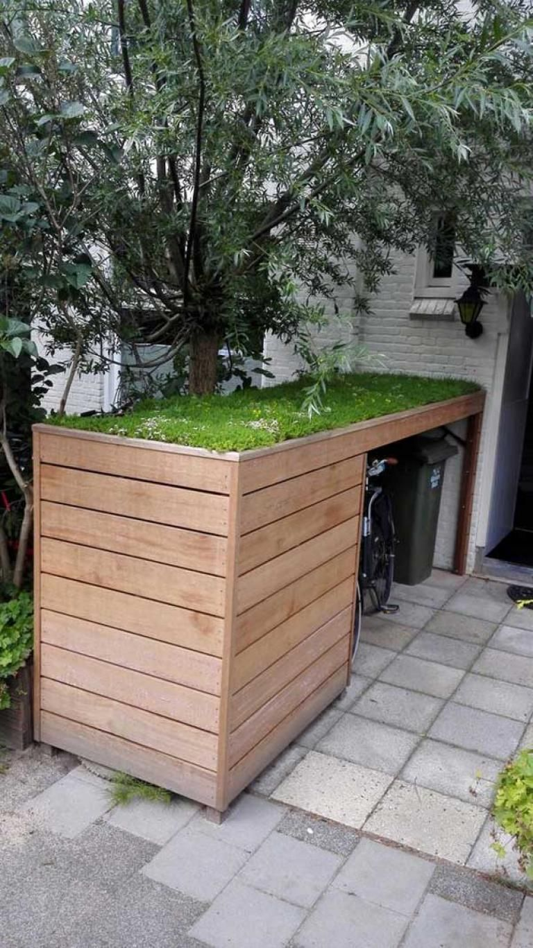 Best DIY Garden and Yard Sheds Expand Your Storage is part of Yard sheds, Garden storage, Yard storage, Shed storage, Bike storage, Backyard landscaping - Image Source In case you've got a small home and also have consumed every inch of spare space in your home, and have additional stuff should shop, subsequently garden or lawn storage sheds will be an exciting option  Sheds will help alleviate the space crunch around your home