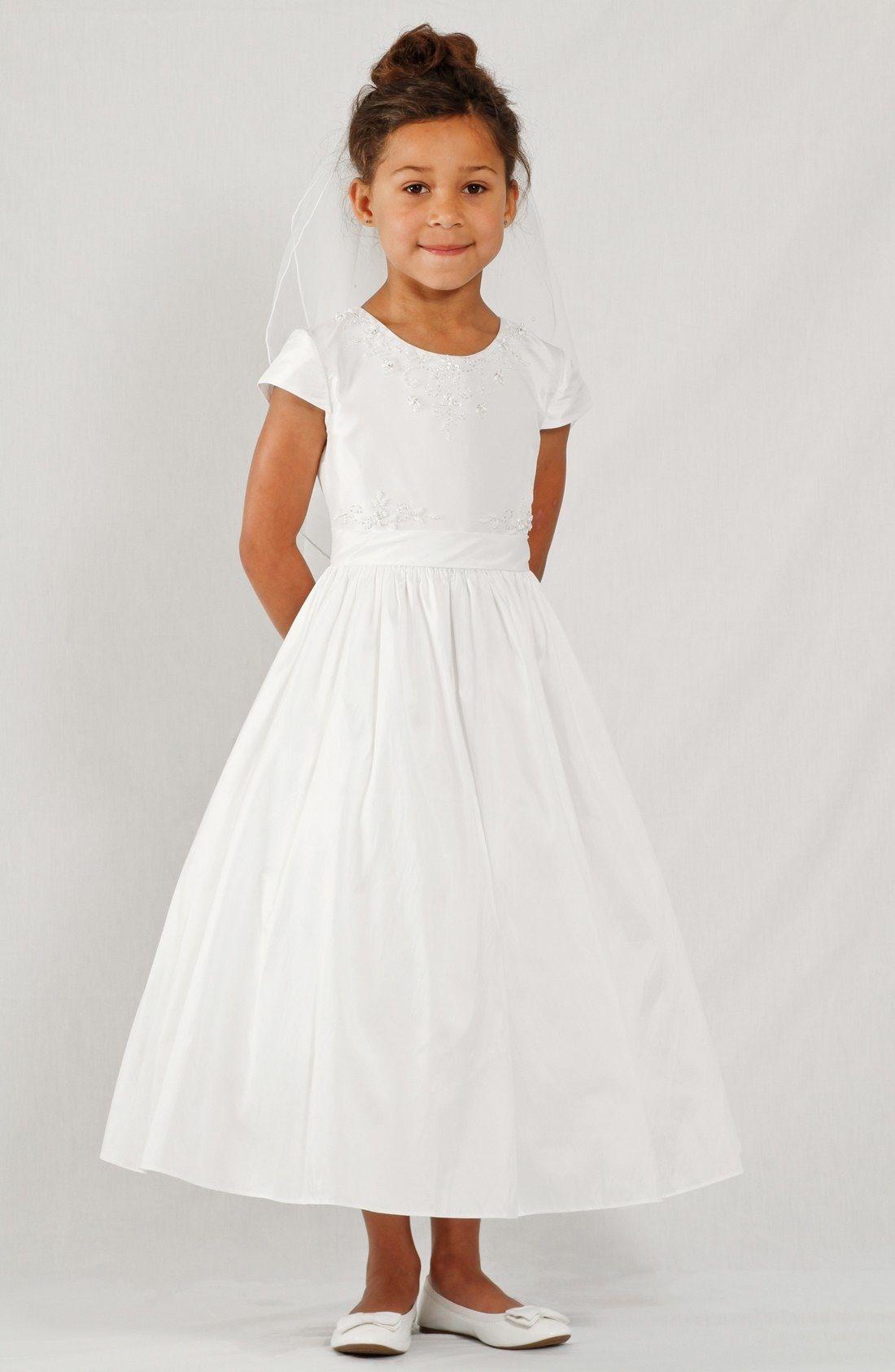 c502da79a Lauren Marie Beaded Cap Sleeve Dress (Little Girls