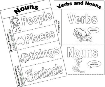 FREE Verb, Noun & Adjective Interactive Notebooks (Grammar