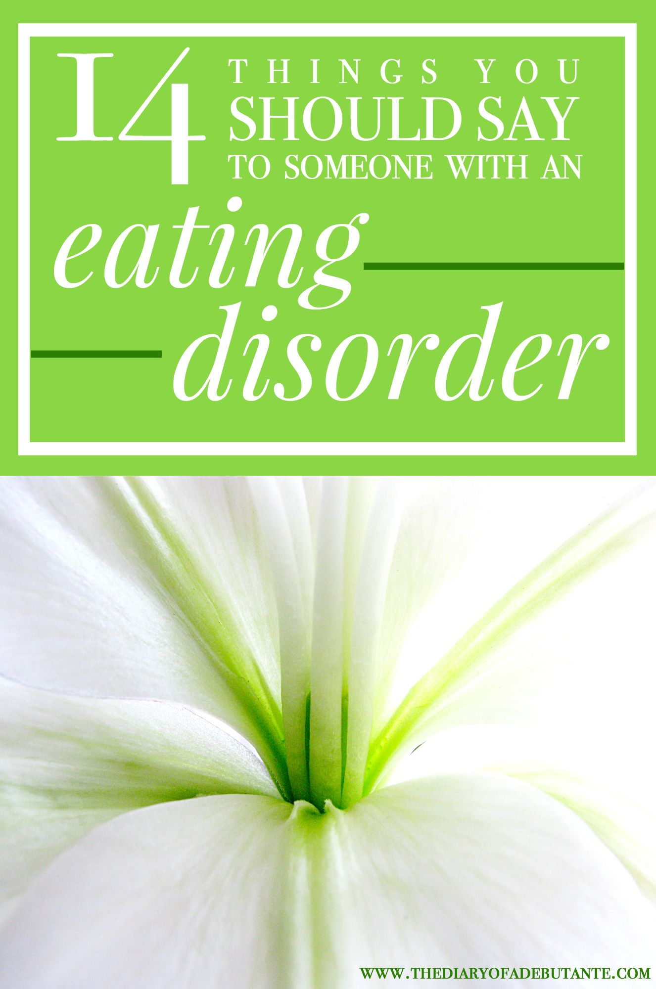 how to help someone with an eating disorder: the things you should