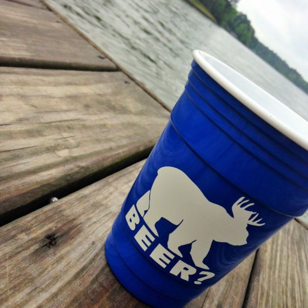 Personalized Solo Cup Monogrammed Reusable Insulated Beach