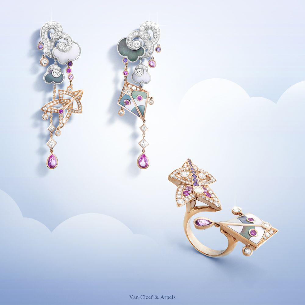 Van cleef arpels presents its new jewelry collection cerfs volants paying homage