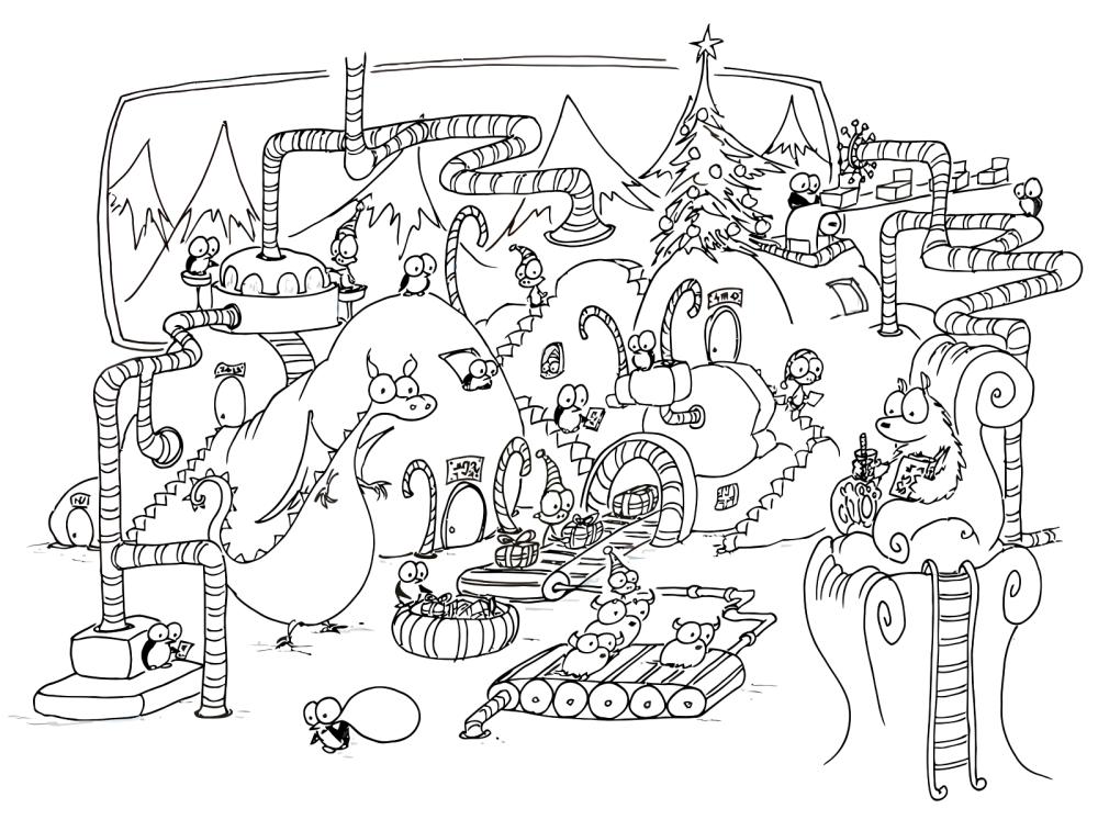 Christmas Penguins And Monkeys Dinosaur Coloring Pages Coloring Books Christmas Coloring Pages