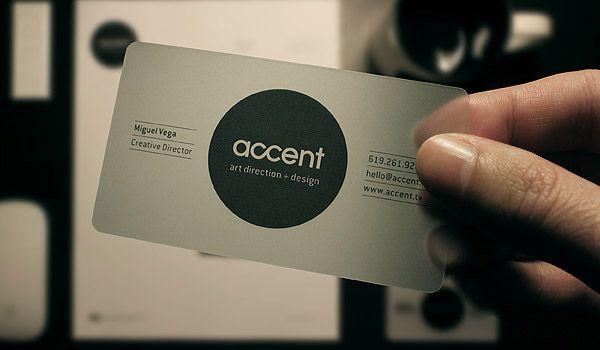 Semi Transparent Plastic Business Card Accent Businesscard Brand Graphicdesign
