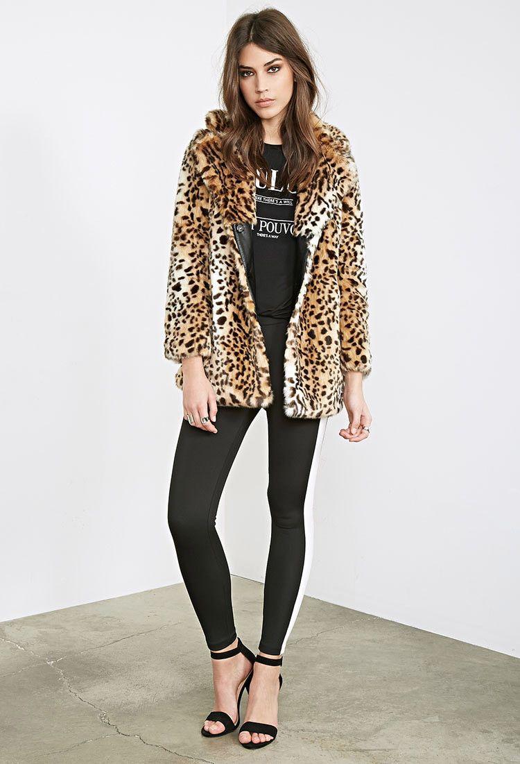 Leopard Faux Fur Coat | Forever 21 - 2000099949 | Winter Wardrobe ...