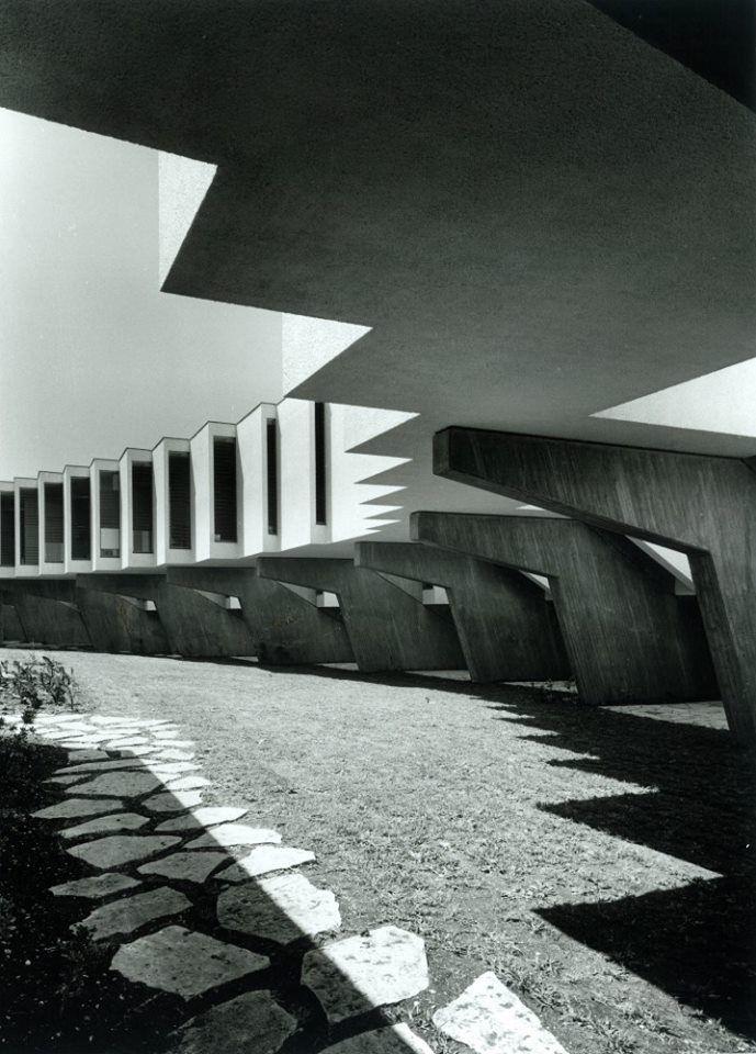 Mivtachim Sanitarium, Zichron Ya'akov, Israel. 1968 Jacob Rechter