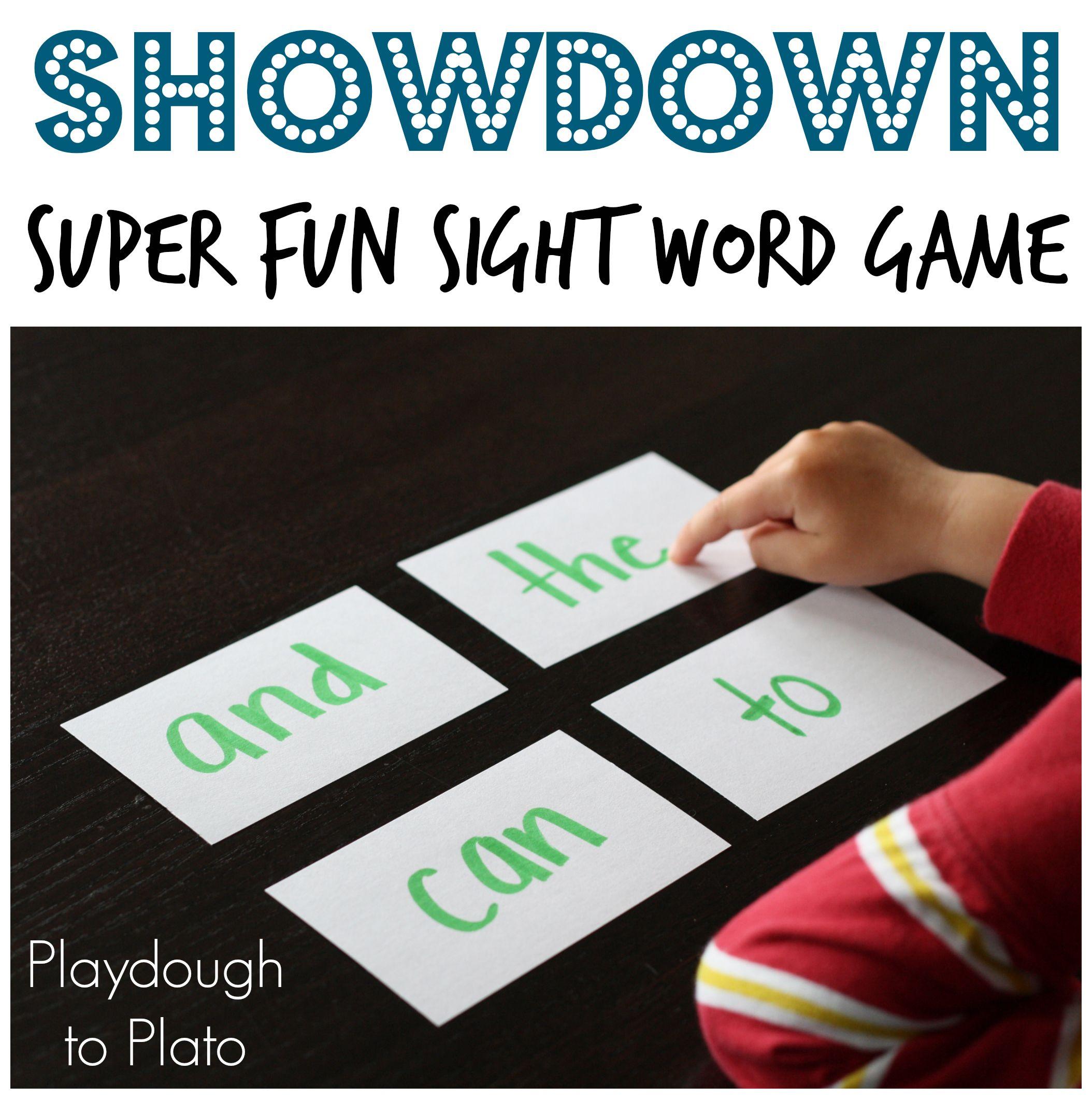 Sight Word Game Showdown