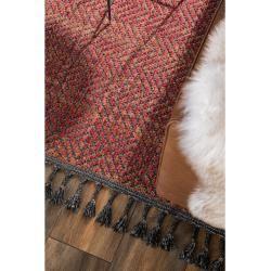 Photo of benuta Trends Kurzflor Teppich Laila Rot 230×340 cm – Moderner Teppich für Wohnzimmerbenuta.de