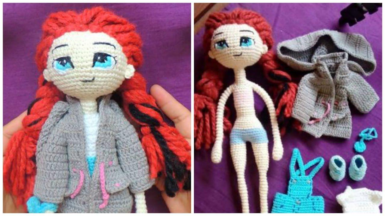 Ropa Muñeca Articulable - Tejido Crochet #1 | örgü video | Pinterest ...