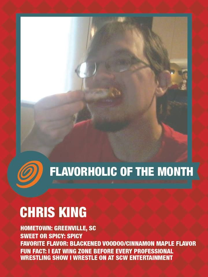 Meet Chris, Chris is an AWESOME fan of ours and it is our honor to name him our September Flavorholic of the month!