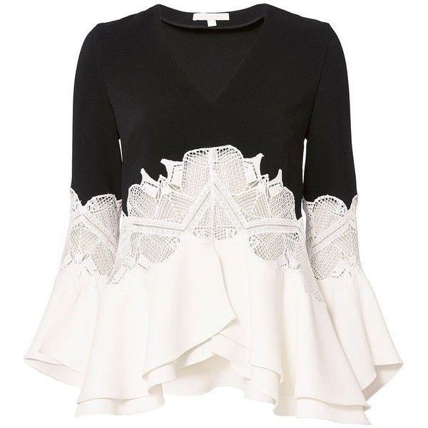 Jonathan Simkhai Women S Ruffled Sleeve Lace Top 399 Liked On
