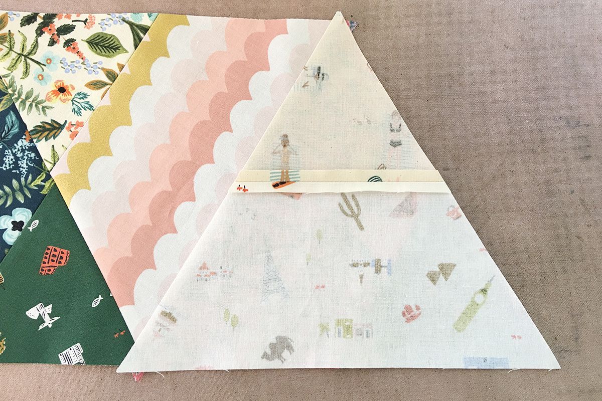 Easy Modern Triangles Quilt Tutorial
