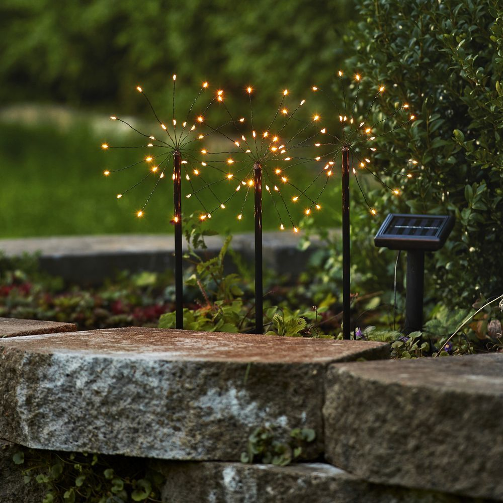 Led Solar Erdspiessleuchte Firework 3er Set Best Season 480 58 Solar Solarleuchten Gartenbeleuchtung