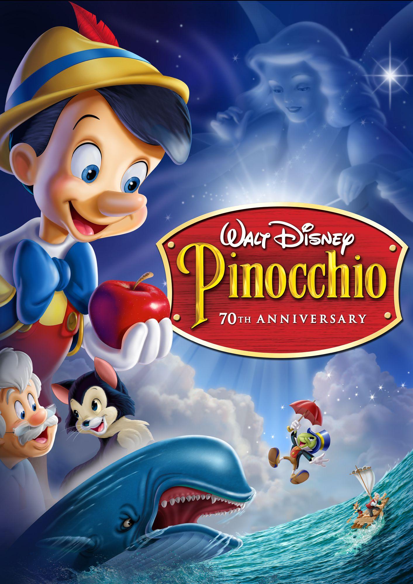 Disney pinocchio dvd cover pinocchio