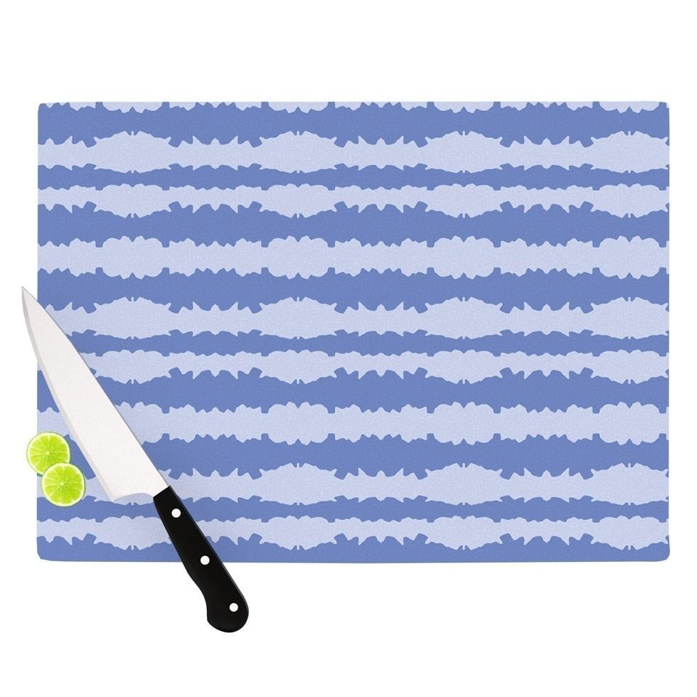 "Kess InHouse Mydeas ""Nautical Breeze - Ocean Ripple"" Blue Aqua Cutting Board ("