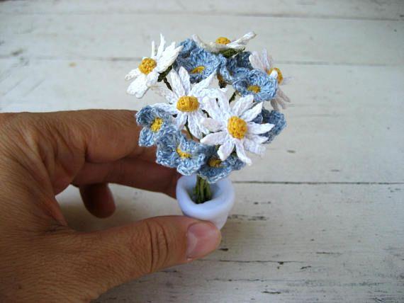 Crochet spring flowers miniature flowerstiny garden potted mini crochet spring flowers miniature flowerstiny garden potted mightylinksfo