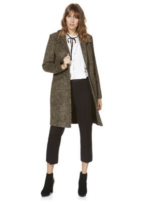 F&F Leopard Print Boyfriend Coat 12 Brown | Coat Ideas | Pinterest ...