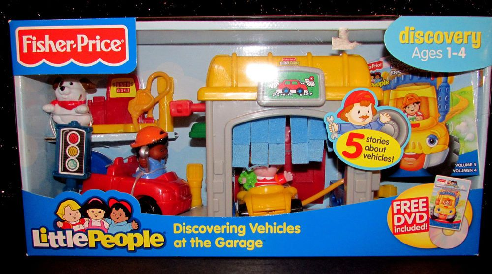 Garage Little People : Fisher price little people set discovering vehicles at the garage