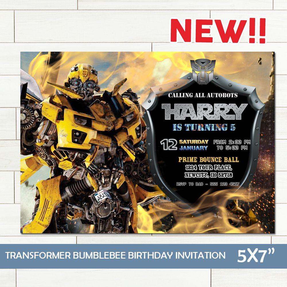 Transformer Invitation Transformer Birthday Invitation