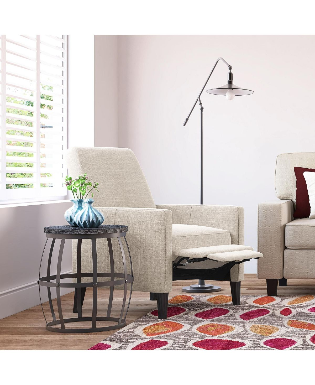 Outstanding Closeout Truly Home Cooper Push Back Reclining Accent Chair Onthecornerstone Fun Painted Chair Ideas Images Onthecornerstoneorg
