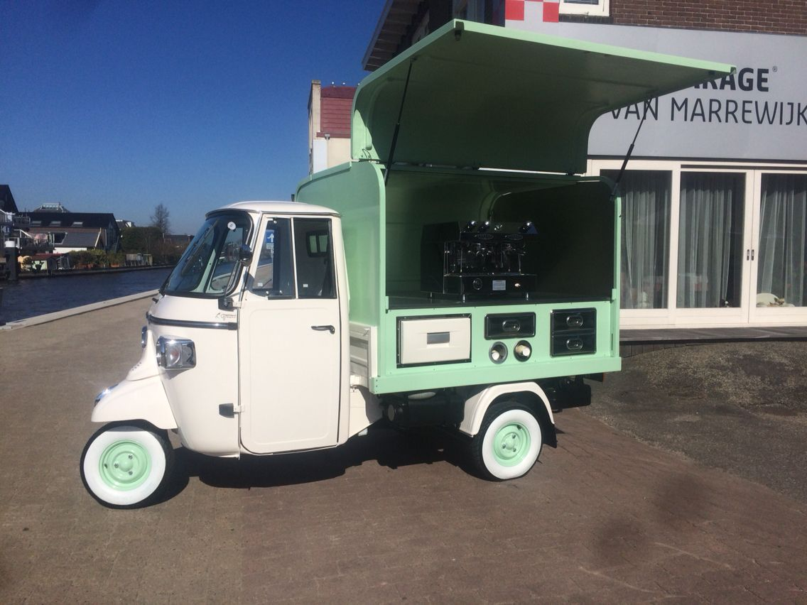 piaggio ape classic with salesunit for kaffee made in. Black Bedroom Furniture Sets. Home Design Ideas